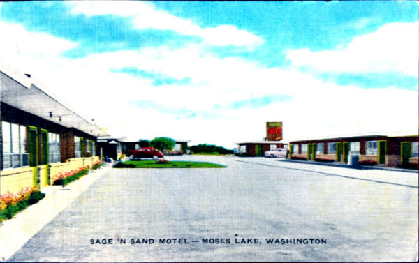 Historic Postcard of Sage N Sand