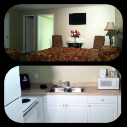 Double Queen DLX Kitchenette Room at Sage-N-Sand Motel